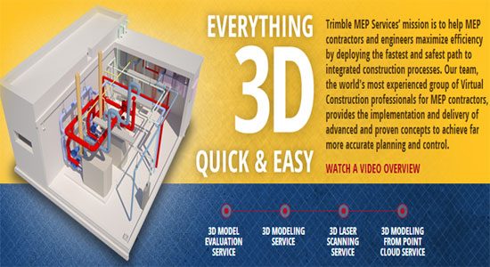 MEP Contractors will get huge benefits from Trimble's 3D BIM consulting services