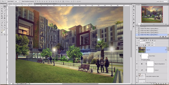 Architectural Post Processing in Photoshop