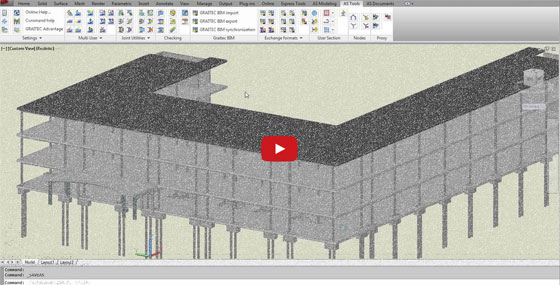 Data exchange of 3D BIM model between Revit Structure 2012 and Autodesk Advance Steel
