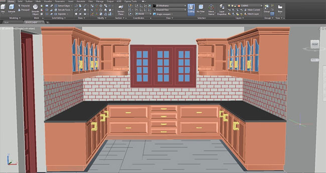 How to perform hatching in AutoCAD for designing a kitchen in 3D