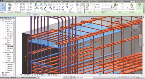 rendering in 3D with Revit