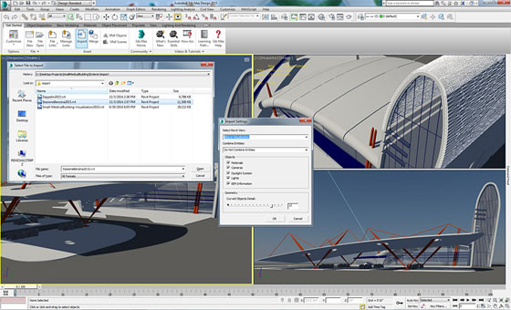 Revit import of 3ds Max and 3ds Max Design 2015 Ext 2