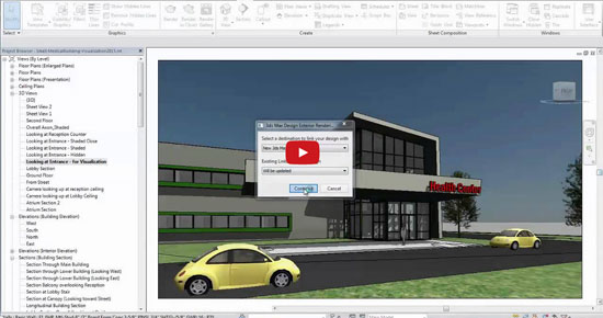 feature of Revit before exporting any visualization project to 3ds Max Design