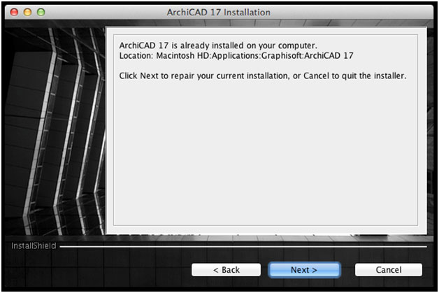 How to repair an installed version of ArchiCAD