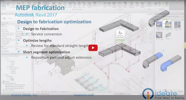 How to use design to fabrication tool in Revit 2017