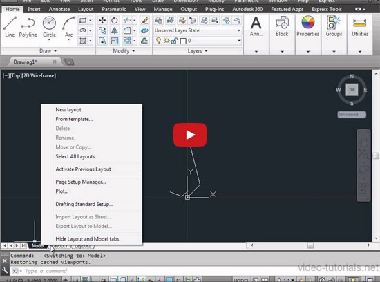 Be familiar with AutoCAD 2014 Interface