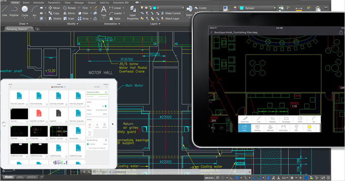 How to use AutoCAD 360 Mobile App to view, edit and share AutoCAD drawings