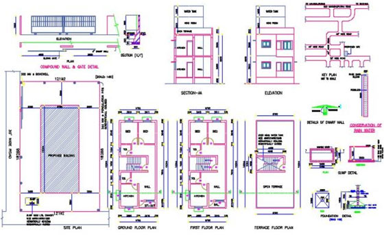 Download various house plans in dwg formats