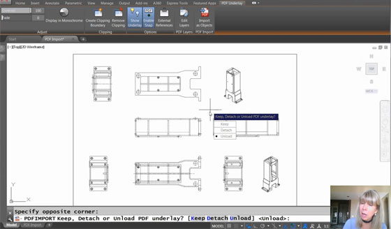 How to transform PDF underlays to AutoCAD Objects