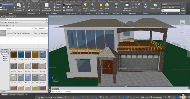 AutoCAD 2016 Tutorial on cameras, materials, lighting and rendering