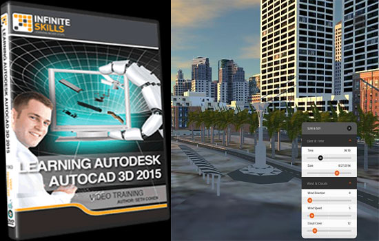 Infinite skills offers an exclusive video tutorial on AutoCAD 3D 2015