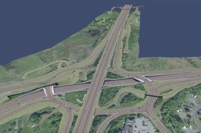How BIM was utilized in £500M M8 M73 M74 Motorway Improvements Project in Scotland