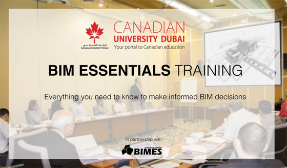 An exclusive BIM course conducted by CANADIAN University Dubai