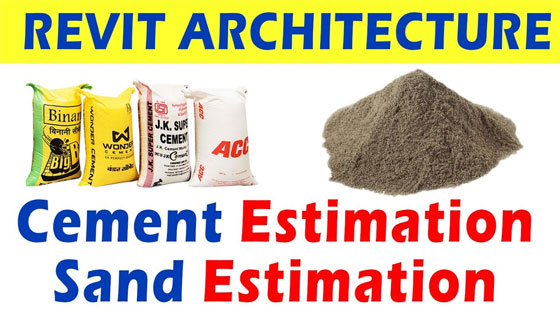 Cost Estimating Sand & Cement Using Revit