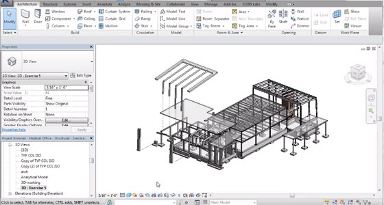creating displaced view in Revit 2016