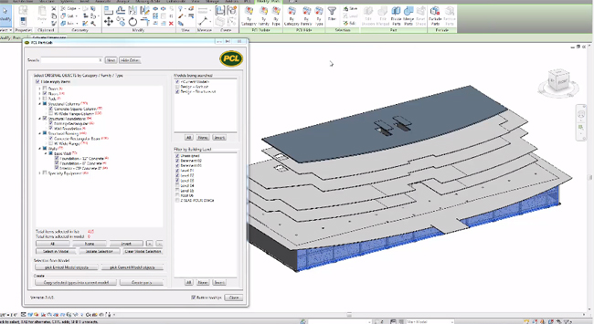 How to use PCL PartsLab revit add in to generate unlimited parts in any revit construction model