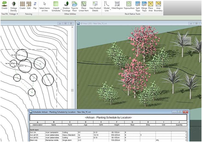 CS ArtisanRV is the FIRST Web-integrated landscape software for Revit