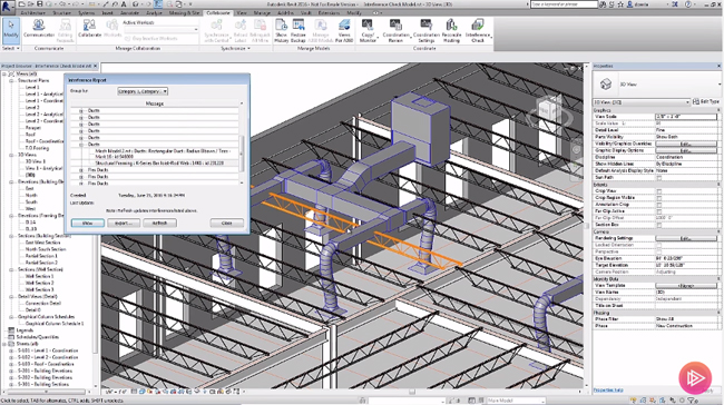 How to run a custom interference check in Revit
