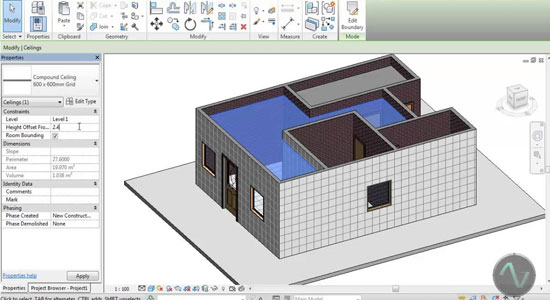 Development of a full house in Revit Architecture 2014