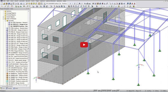 BIM integration with finite element analysis and Design Software RFEM
