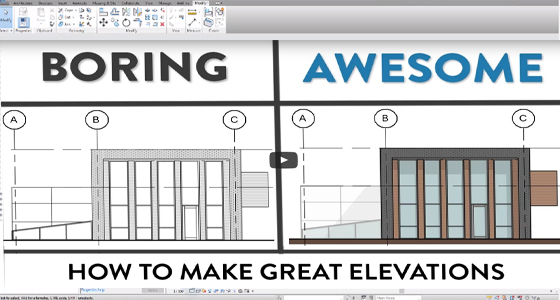 How to make perfect elevations with Revit