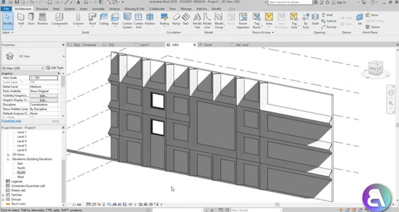 How to use Revit to design facade elements