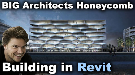 How to create BIG Architects Honeycomb Building In Revit