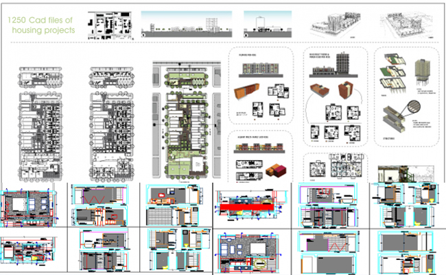 Download various house floor plans available in AutoCad dwg format