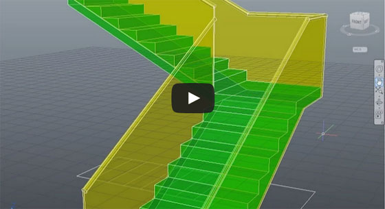 Learn to create a L-Type Stairs quickly with AutoCAD