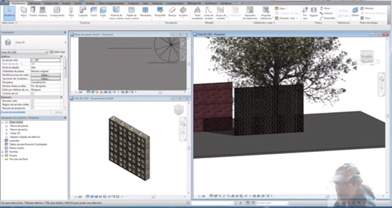 lattice wall blocks with Revit 2017