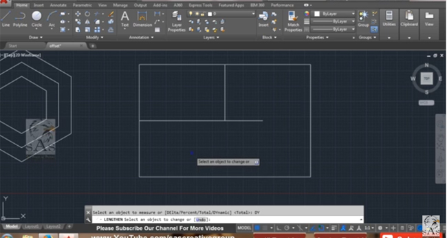 An exclusive AutoCAD tutorial on offset and lengthen command in AutoCAD 2016