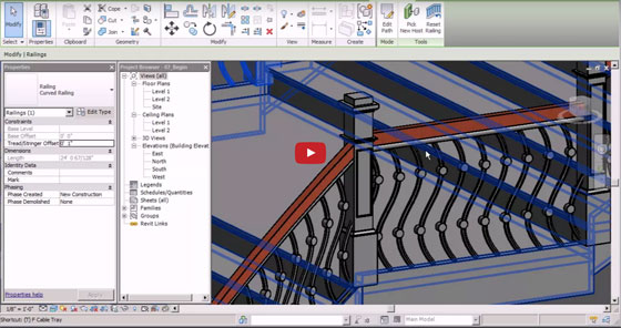 Learn to create a custom staircase in Revit