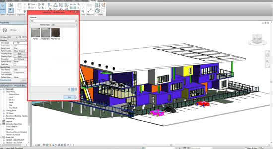 Revit Architecture - How to modify materials and colours
