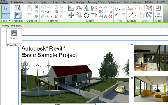 PowerSheets Add-in for Autodesk Revit