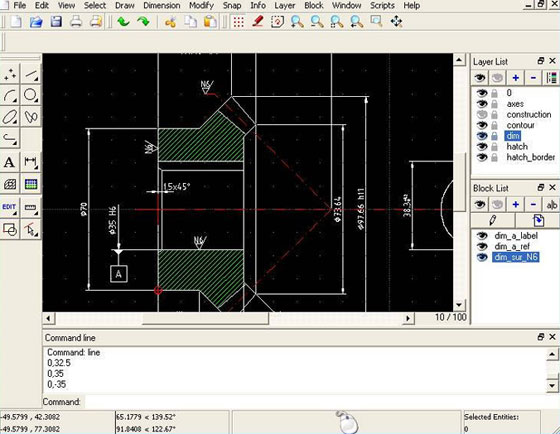 QCAD 3.9.1 – A powerful CAD program for performing CAD drafting in 2d