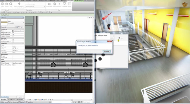 Perform realtime rendering for Revit with Enscape