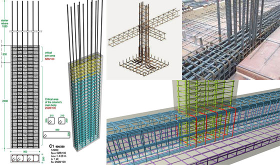 Learn to allocate reinforcement to column in Revit Structure