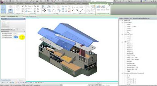 Whats New in Revit 2014 Displaced Views