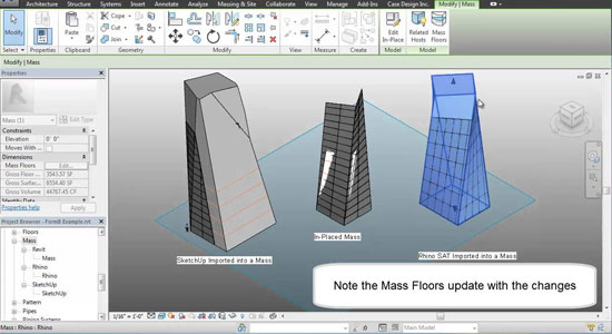 Revit 2014 - Working with Imported Solids and Temporary View Templates