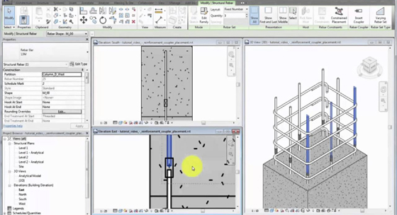 Rebar Couplers in Revit 2017