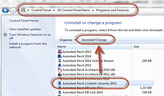 Revit 2015 content libraries