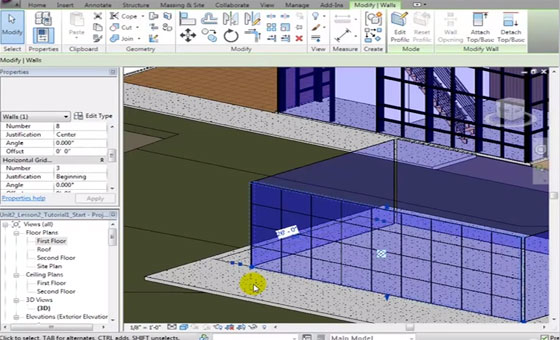 Revit Architecture Creating Curtain Wall Types and Grid Patterns