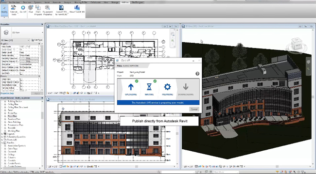 Brief demonstration of Autodesk Revit LIVE