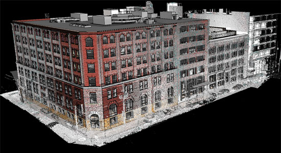 Modelling in Revit Architecture with point clouds