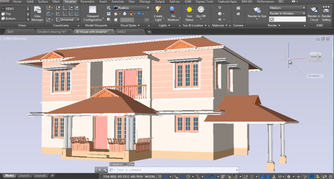How to use AutoCAD for making roof with sloping parapet