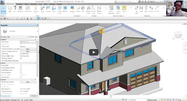 Learn to create roofs by footprint & join complex roof in Revit 2017