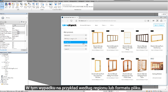 How to utilize search bar in Revit and AutoCAD