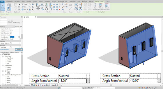 How to Use Slanted Walls in Revit 2021