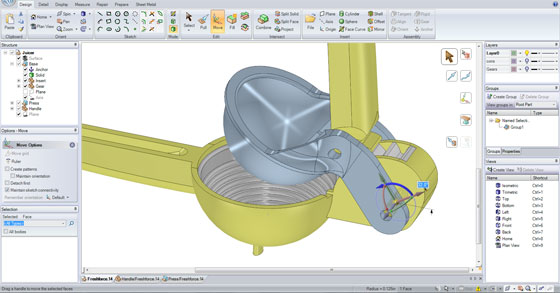 Improve your 3d cad modeling and 3d printing process with SpaceClaim Engineer 2014 SP1