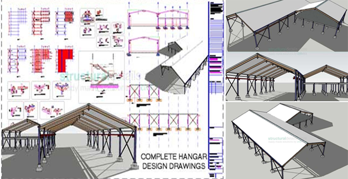 Download the sample of Steel Frame Hangar Complete Design Drawings